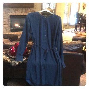Loft Teal Shirt Dress-Sz S